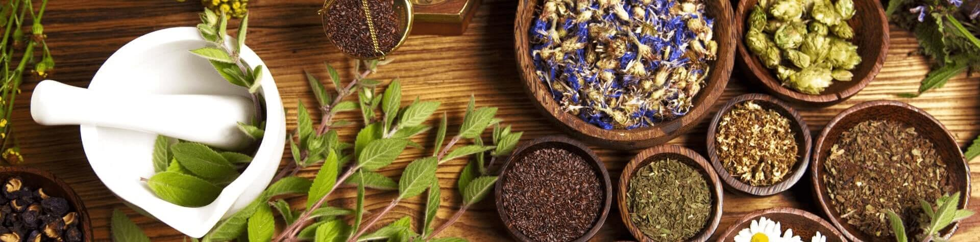 Natural teas of fruits and herbs